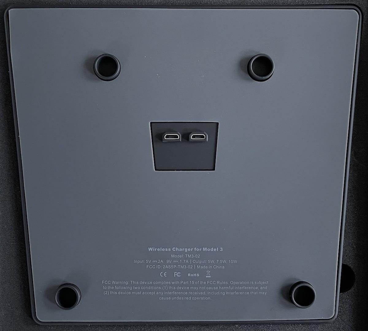 Model 3 - Draadloze telefoon oplader achterkant