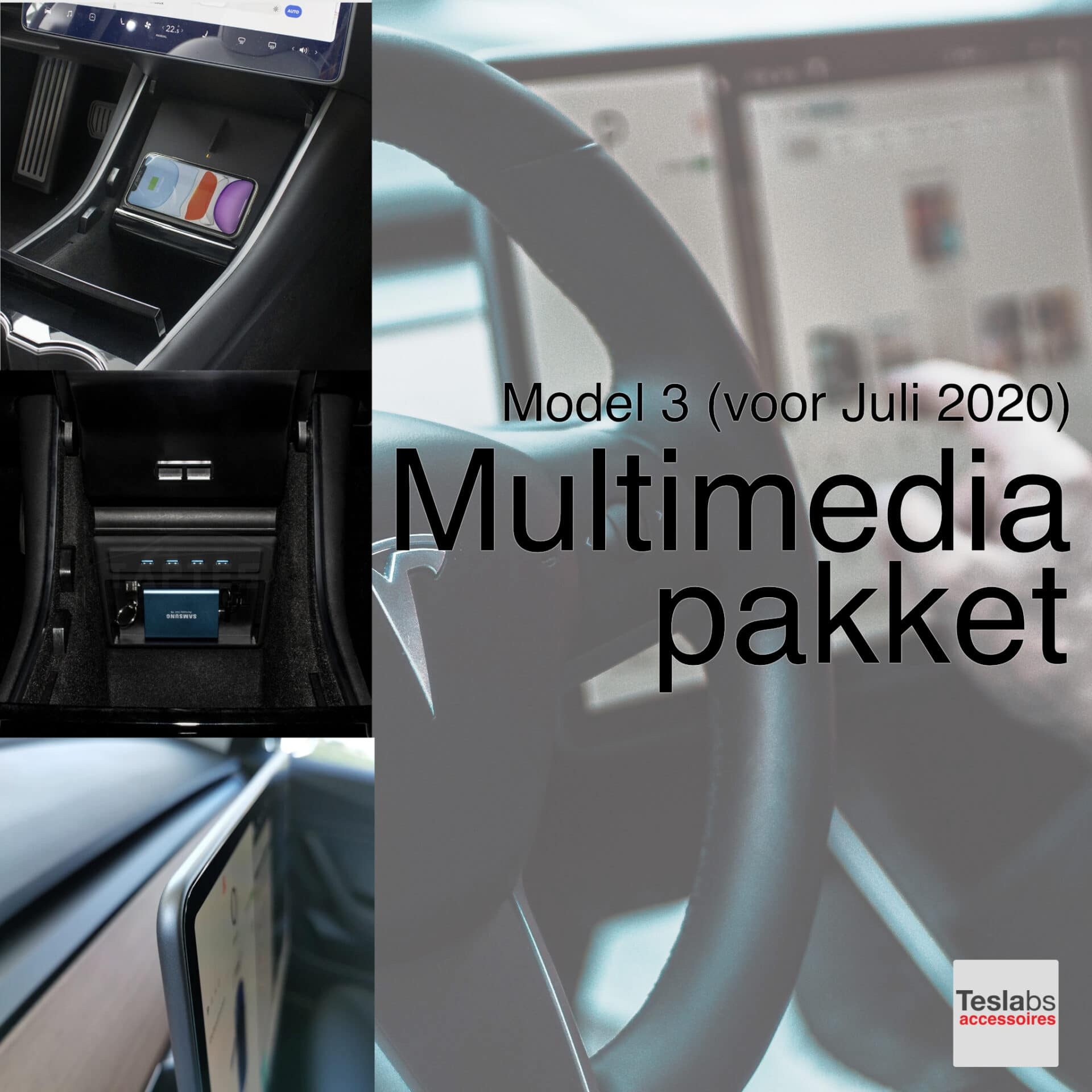 Tesla Model 3 - Multimedia pakket pre juli 2020