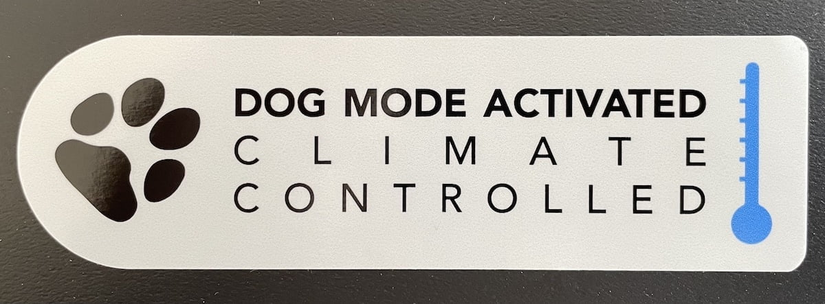 Dog mode activated sticker