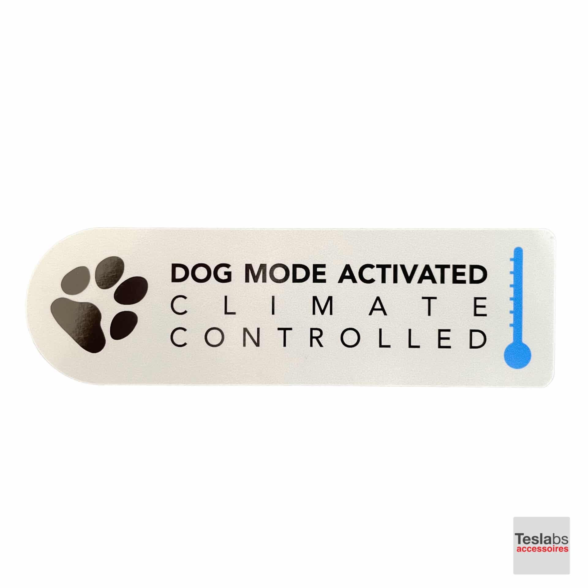 Dog mode sticker Engels