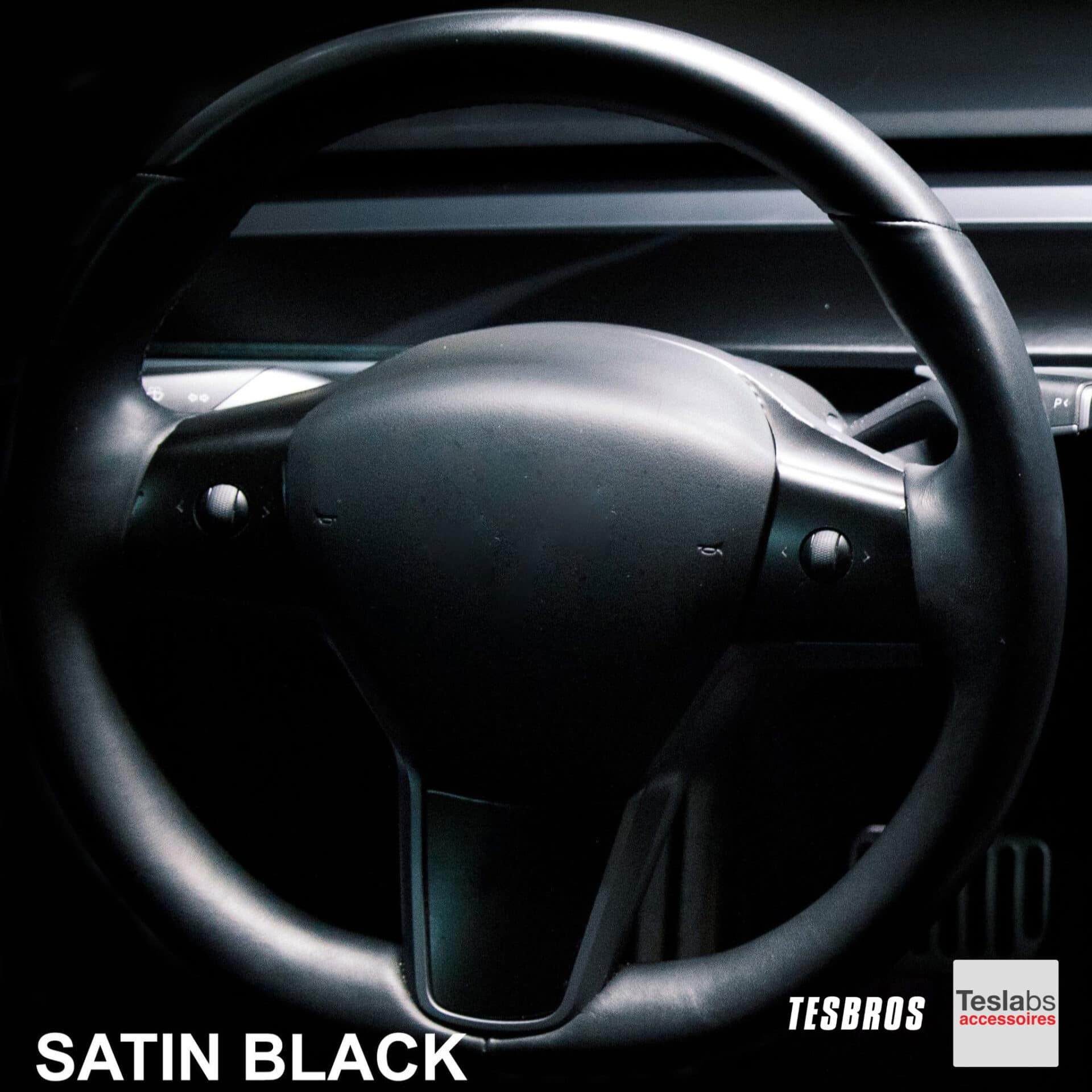 Model 3/Y - Stuur wrap satin black