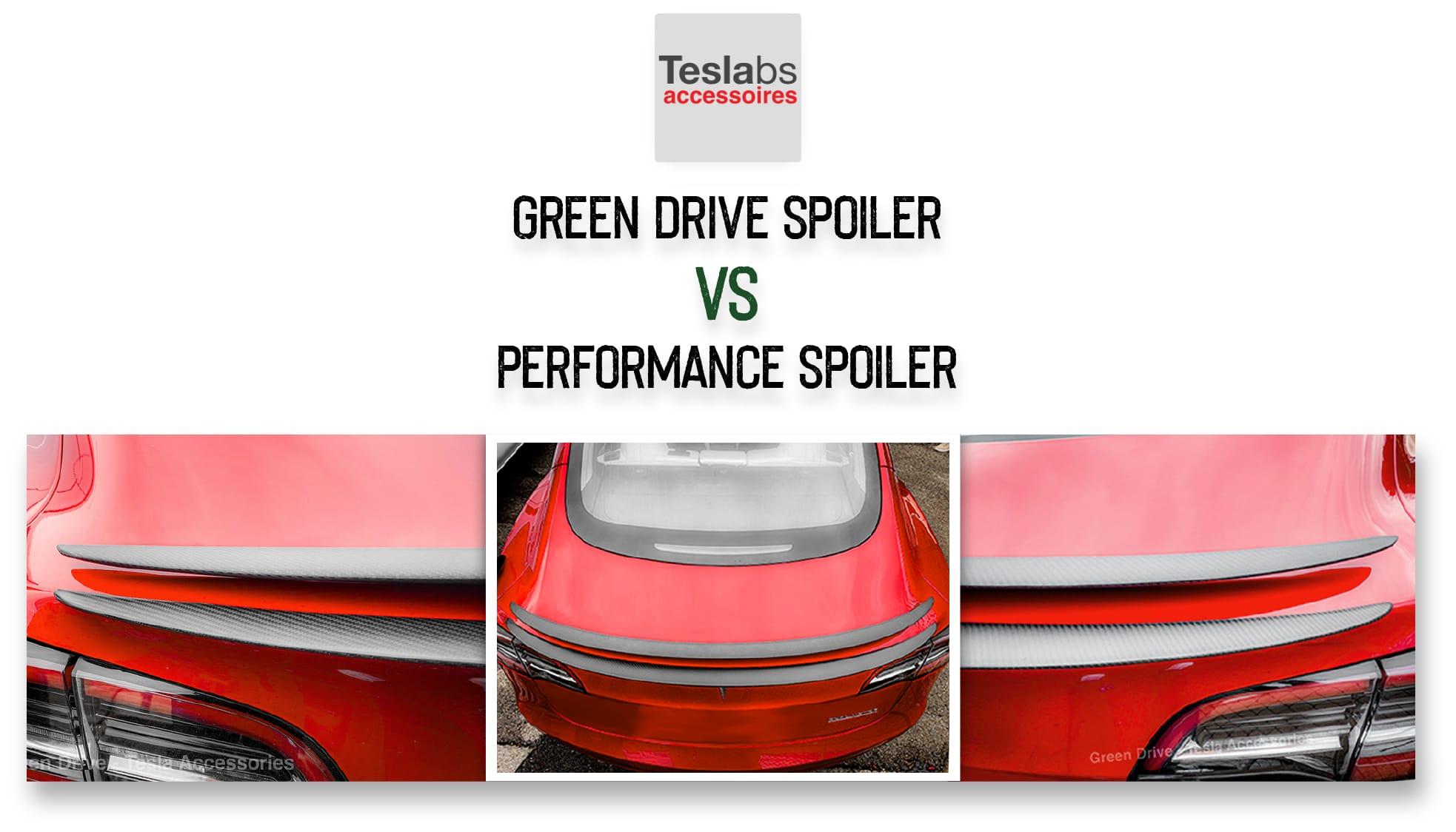 Model 3 Performance Spoiler comparison