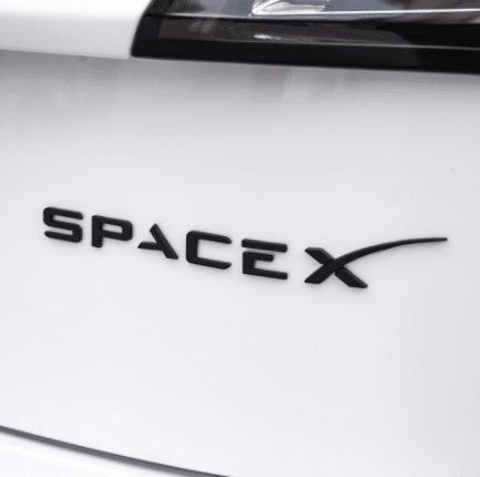 Space X Logo zwart